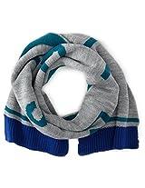Diesel Baby Boys' Roslib Boys' Ribbed Knit Scarf with Logo, Melange, 02 Months