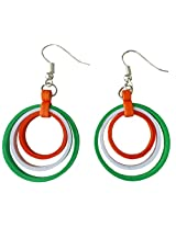 Designer's Collection Paper Quilling Ear Rings for Women(Tri colour)-DSERE005