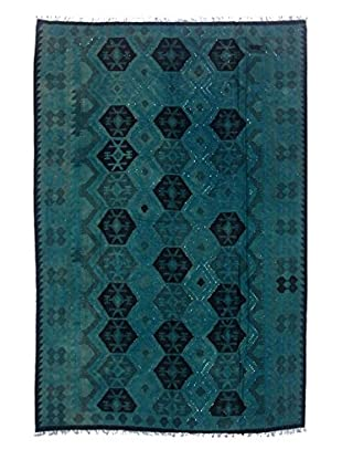 nuLOOM One-of-a-Kind Flatwoven Kilim Turner Rug, Teal, 6' 6