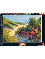Educa Beach Scene with Fresh Flowers Puzzle (500-Piece)