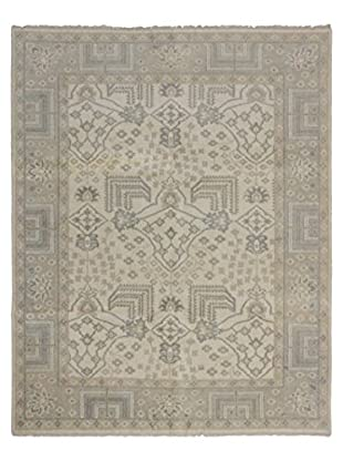 eCarpet Gallery One-of-a-Kind Hand-Knotted Royal Ushak Rug, Cream, 7' 11