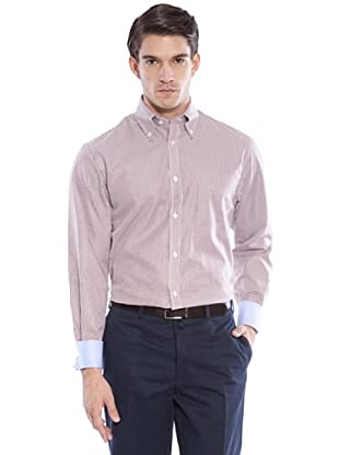 Hackett Camisa Rayas (Marrón / Blanco)