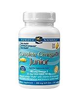 Nordic Naturals, Complete Omega-D3 Junior, Lemon, 500 mg, 90 Chewable Soft Gels