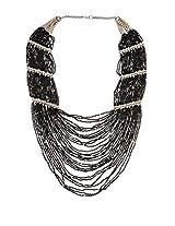 Art Mannia White Metal & Beads Neckpiece For Women (Fn54)