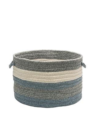 Colonial Mills Elliott Stripe Basket, (Lightgray/Denim/Natural)