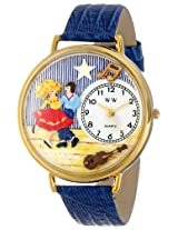Whimsical Watches Unisex G0510006 Square Dancing Royal Blue Leather Watch