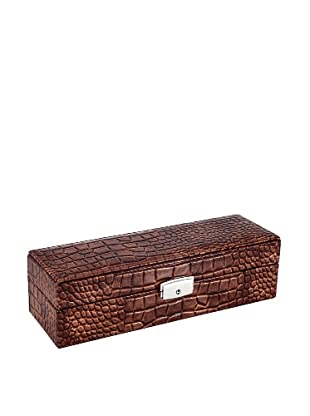 Wilouby 6-Watch Box, Brown Croc