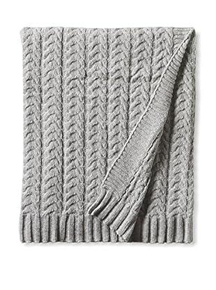 Darzzi Plaid Cable Throw, Grey