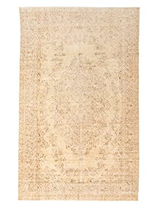eCarpet Gallery One-of-a-Kind Hand-Knotted Anatolian Rug, Cream, 5' 7