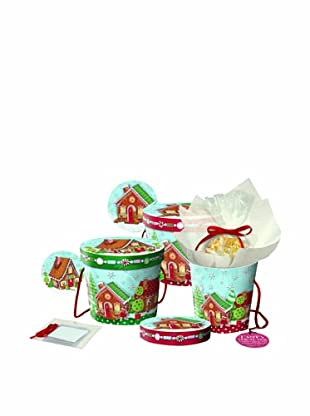 Punch Studio Set of 3 Nesting Treat Boxes (Gingerbread)