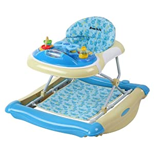 Dream On Me 2 In 1 Crossover Musical Walker And Rocker In Light Blue