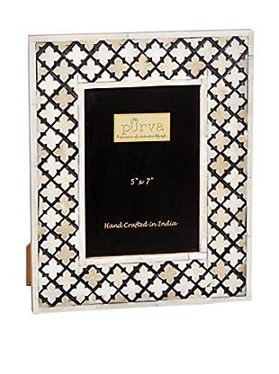 Purva Natural Cut Alhambra Frame (White)