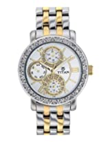 Titan Purple Analog Silver Dial Women's Watch - NE9743BM01J