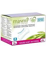 Masmi Chlorine Free Individually Wrapped Ultra Thin Organic Cotton Pantyliners 24s
