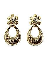 Dhwani Creation Drop Alloy Earrings For Girls and Women (White)