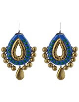 Avarna Terracotta Large Ear Ring In Multi-Colour