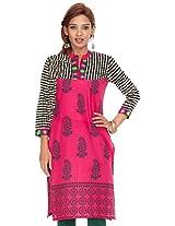 Shop Avenue Women's Cotton Regular Fit Kurti (WGS07111, Pink, XX-Large)