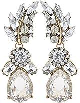 Jewel Touch White Metal Earring for Women (JWLC15151ER)
