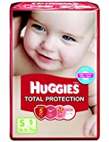 Huggies Total Protection Small Size Diapers (5 Count)