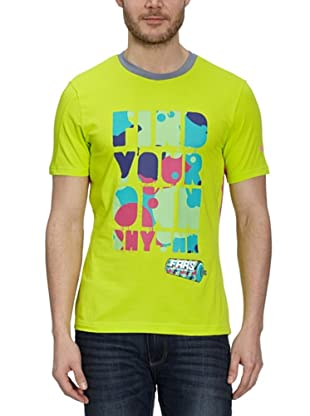 Puma T-Shirt Faas Graphic (lime punch-raspberry rose)