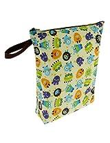 Blueberry Diaper Wet Bag, Monsters