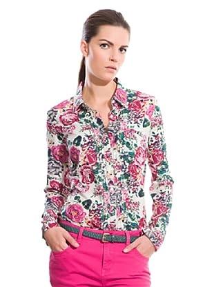 Cortefiel Camisa Estampado Flores (Rosa / Multicolor)