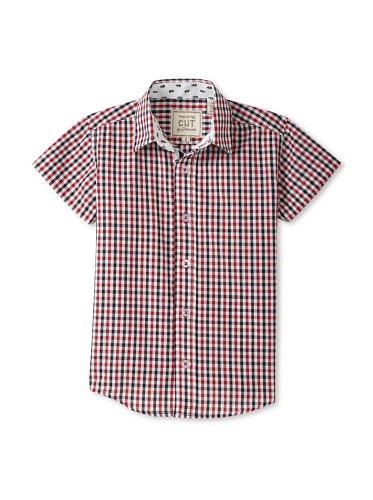 CUT By 2 Blondes Boys Don't Skull It Button-Up (Black/Red)
