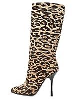 Dolce & Gabbana Botas Leopardo (Beige / Negro)