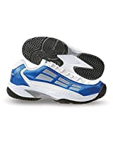 Nivia Men's Ray PU White and Blue Tennis Shoes - 10 UK