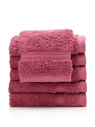 Royal Ascot by Chortex Set of 6 Wash Cloths, Magenta