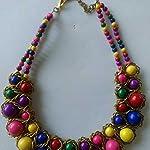 Multi Plastic Fashion Necklace