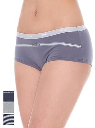 DIM Set 3 Pezzi Panty Trousse Pocket