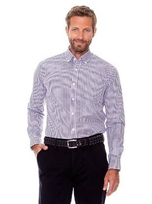 Cortefiel Camisa Cuadros (Violeta / Blanco)