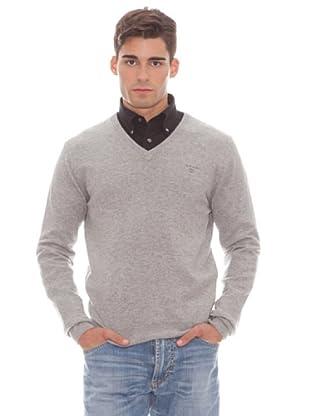 Gant Jersey Liso Pico (gris)