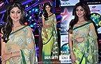 Indian Ethnic Designer Bollywood Party Wear Sarees Sari Traditional Women Wedding shilpa shetty Green saree