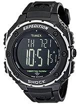 Timex Men's Expedition Shock Xl T49950 Black Plastic Quartz Watch with Digital Dial