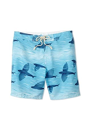 Strong Boalt Men's Flying Fish Classic Boardshorts (Blue Skies)