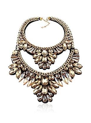 Chamay Halskette  beige/goldfarben