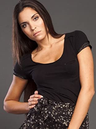 Ikks Camiseta Lentejuelas (negro)