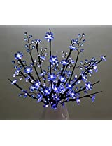 Blue Crystal Flowers Branch Lights with Beaded Sprays