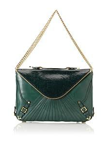Rebecca Minkoff Women's Cali Envelope Shoulder Bag (Emerald/Black)