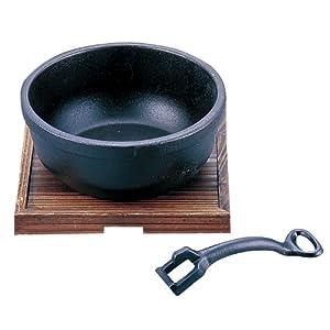 プログレード 鉄鋳物ビビンバ鍋(敷板付) 18cm 2793