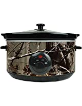 DII Real Tree Slow Cooker for Parties, Stews, Dips, Chili, Dinners with Removable Stoneware Pot and Tempered Glass Lid, 5-Quart, Multicolor
