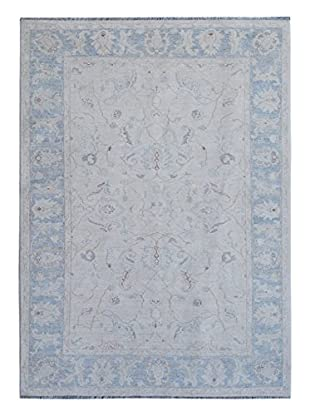 Kalaty One-of-a-Kind Pak Rug, Ivory/Blue, 5' 2