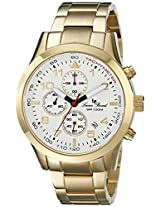 Lucien Piccard Men's LP-13347-YG-22 Vertex Analog Display Japanese Quartz Gold Watch