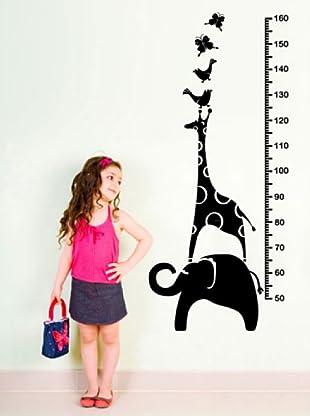 Vinilo Adhesivo toesas con animales y jirafa Negro