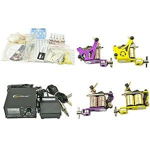 Eyepower Tattoo Kit Tattoo Machine Kit Two Tattoo Gun Kit With Power Supply And Tattoo Needles By Ey...