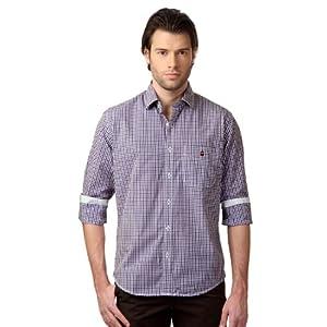Louis Phillipe Checkered Semi-Formals Shirt