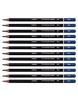 Scholine Tin Case 12 Art Sketching pencils for professional Drawing 2H,H,F,HB,B,2B,3B,4B,5B,6B,7B,8B