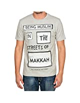 Being Muslim Grey Cotton T-shirt for Men